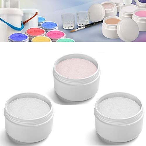 EuBeCos Acryl Luxus Puder Monomers 30g ROSÈ + 30g WEISS + 30g KLAR = GESAMT 90g Acrylpulver MADE IN GERMANY und 100% PBO-FREI! im ()