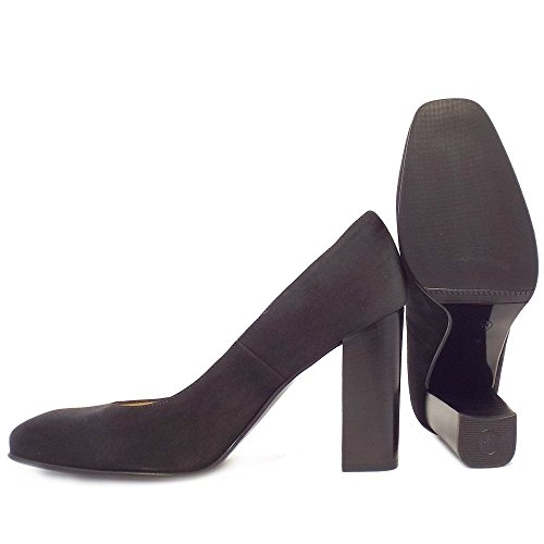 Peter Kaiser Snary Ladies Blocco Tallone Formale Scarpe In Camoscio Grigio CARBON SUEDE