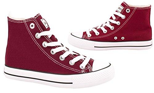 Sneaker Cult Elara Unisex | Scarpe Sportive Comode Per Uomo E Donna | Scarpe Di Alta Qualità In Tessuto | Bordorot Chunkyrayan