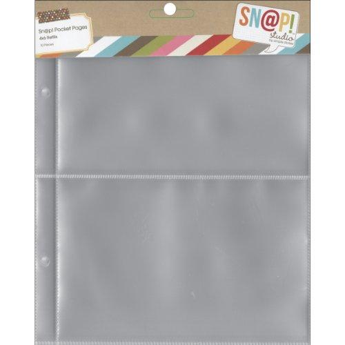 Simples étages 2003 Snap Poche Pages pour classeurs, Multicolore, 6 x 20,3 cm, Lot de 10