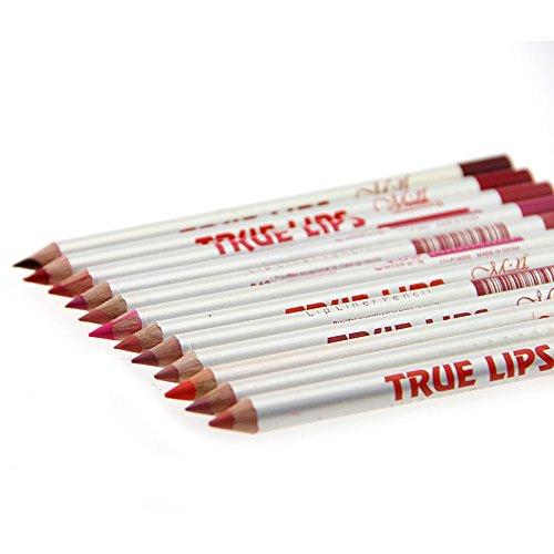Daorier Lèvres Liner Pencil/Etanche Lip Liner Crayon/ Outils Crayon a Levres /Lip Gloss Outils de Maquillage 12pcs (MulticoloreC)