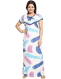 Tucute Women's Beautiful Strips Print Feeding / Maternity / Nursing Nighty/ Nightwear.