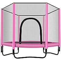 Preisvergleich für Garten-Trampolin Uni-Jump, Kinder-Trampolin, Trampolin Komplett-Set Inklusive Sprungbrett, Sicherheitsnetz