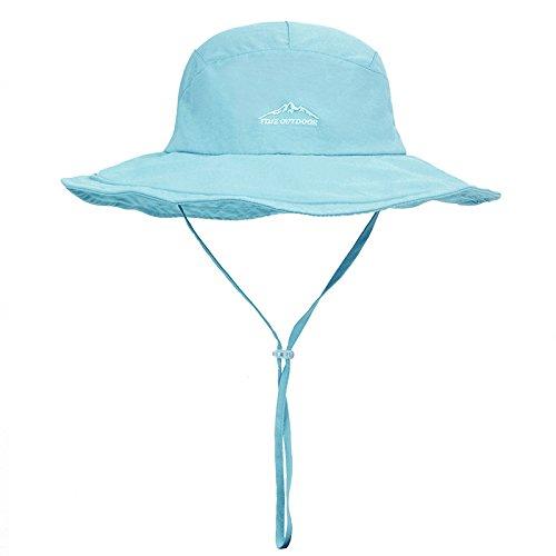 LLZTYM Bord Rond/Chapeau De Soleil/Femelle/Été/Extérieur/Soleil/Pêche/Soleil/Chapeau/Chapeau/Mâle/Pliant/Chapeau De Pêcheur/Escalade/Tête/Cadeau Sky blue