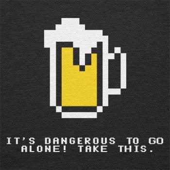 Texlab–Dangerous Beer–sacchetto di stoffa Nero
