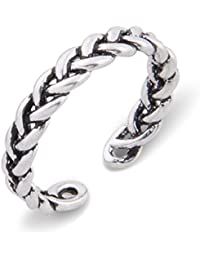 Plata de Ley iszie pequeño Retro infinity Blade abierto Cruz Toe anillo, anillo Midi, ajustable pequeña cruz anillo, anillo de estilo vintage