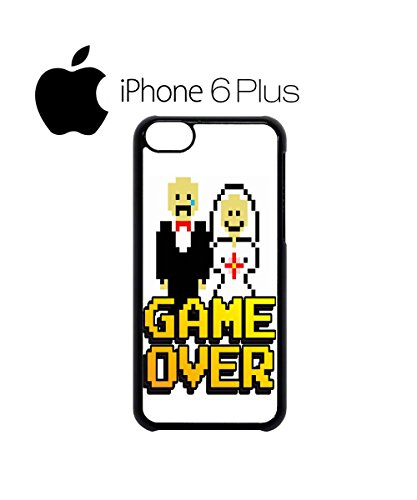 Game Over Funny Marriage Married Poor Guy Boy Mobile Phone Case Cover iPhone 6 Plus + White Blanc