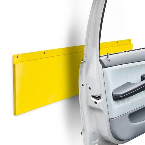 Relaxdays Türkantenschutz für Garage und Autotür, Kunststoff, H x B x T: 64 x 17,5 x 2 cm, gelb