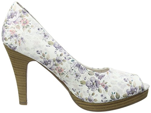 Jane Klain 293 169 Damen Peep-toe Pumps Mehrfarbig (grigio Multi 299)