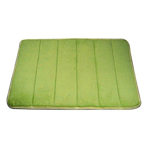 Ularma Mantas rayas verticales memoria espuma alfombra de baño, tapetes de alfombra (verde)