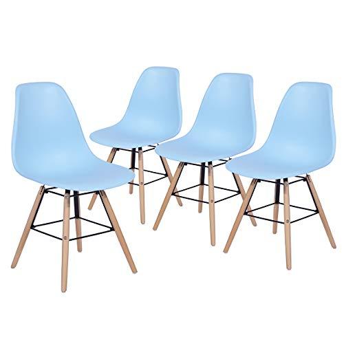 Yata Home Set 4 Stühle im modernen Design, skandinavischer Stil, Holz, Küchenstuhl, Esszimmer, Wohnzimmer, Küche, Büro -
