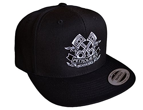 Petrolhead Industries: Piston - Cap für alle Tuning-, Drift-, und Motorsport Fans - Classic Snapback von Flexfit (one Size)