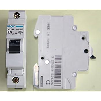 Mt120 Hager Miniature Circuit Breaker 6ka Type B Sp Single