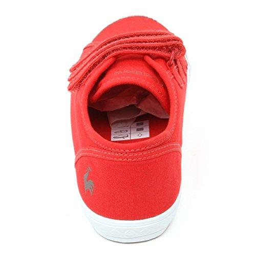 C3664 sneaker bimbo LE COQ SPORTIF DEAUVILLE scarpa rosso strappi shoe kid Rosso