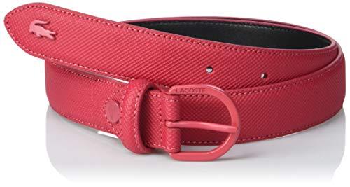 Lacoste Damen Gürtel Rc2112, (Multicolore Virtual Pink 185), 65 (Herstellergröße: 80)