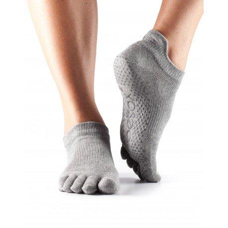 1-Paire-complet-Toe-ToeSox-femmes-Organic-Cotton-Low-Rise-yoga-Chaussettes-Dans-Fuchsia