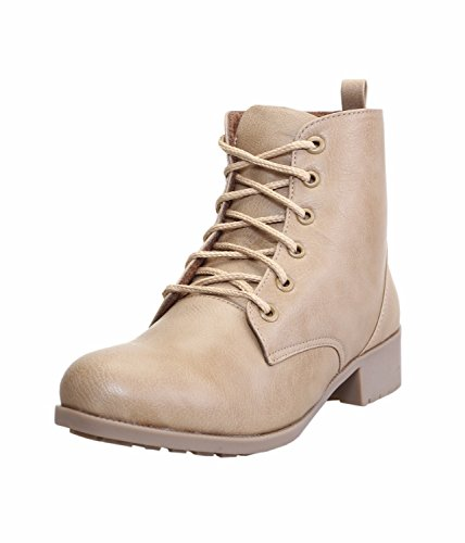 CATBIRD Women's Beige Faux Leather Boots- 9