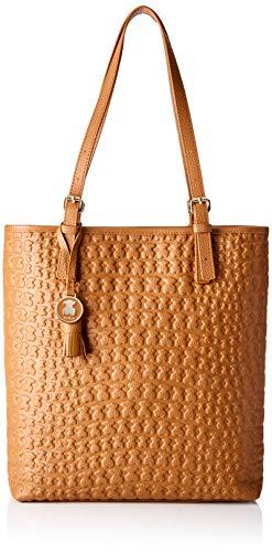 Tous Shopping SHERTON Cuero, Shopper para Mujer, Marrón, 37x39x8 cm (W x H x L)