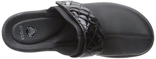 Crocs Cobbler Quilt Strap Clog Black-Black