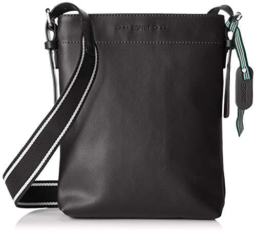 Esprit Accessoires Damen 039ea1o010 Umhängetasche, Schwarz (Black) 4,5x27x21 cm