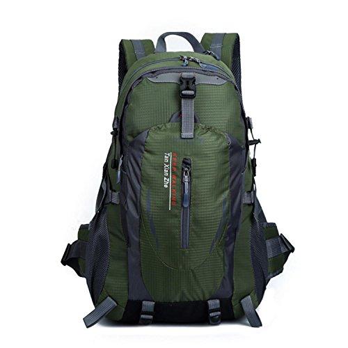 HWJF Zaino da arrampicata multifunzione in sella a un bollitore che appende impermeabile borsa per uomini e donne viaggio all'aria aperta , dark blue ArmyGreen