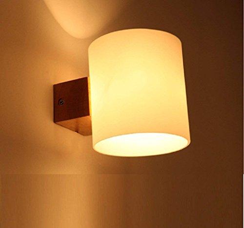 DSJ Tatami Minimalista de Estilo japonés jardín Continental Lámpara de Pared de Madera Sala de Estar...