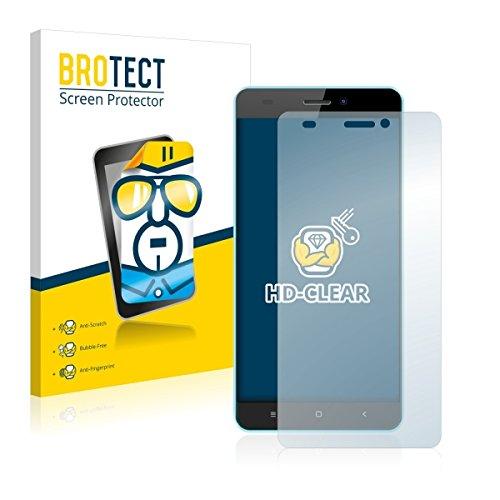 2X BROTECT HD Clear Bildschirmschutz Schutzfolie für Oukitel C3 (kristallklar, extrem Kratzfest, schmutzabweisend)