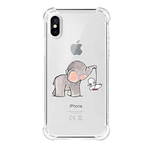 Funda iPhone X Carcasa Silicona Transparente Protector TPU...