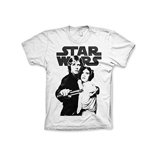 Producto oficial Star Wars Vintage Póster camiseta (blanco) blanco blanco Large