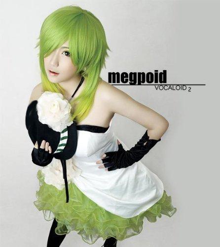 Vocaloid Kamelie Gumi Kleid Cosplay Kostüm+Handschuh + Hut + Perücke