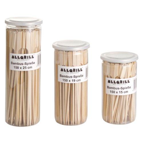 Allgrill Grillzubehör Bambus-Spieße-Set Braun, 450 Stück