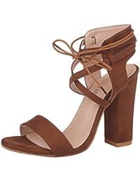 ZKOOO Donna Estate Cinturino Caviglia Sandali Signore Tacco Blocco Alto  Sandalo Peep Toe Scarpe per Ufficio 87037172c1a