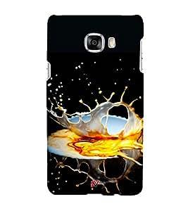 SPLASHING LIQUID ARTISTIC PIC 3D Hard Polycarbonate Designer Back Case Cover for Samsung Galaxy C5