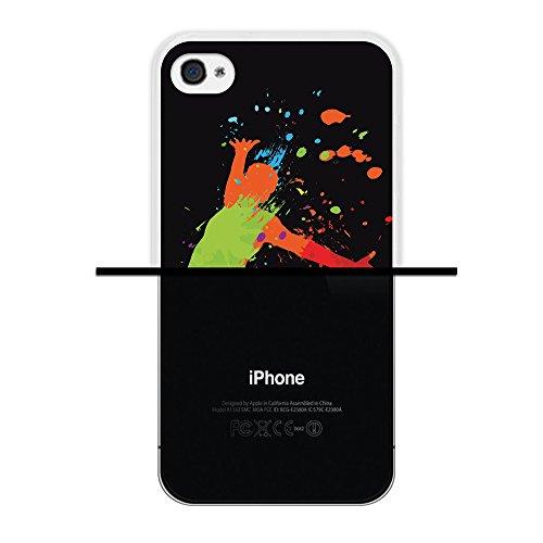iPhone 4 iPhone 4S Hülle, WoowCase Handyhülle Silikon für [ iPhone 4 iPhone 4S ] Basketball Handytasche Handy Cover Case Schutzhülle Flexible TPU - Transparent Housse Gel iPhone 4 iPhone 4S Transparent D0050