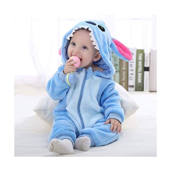 Runuo Bebé recién Nacido con Capucha Mameluco para niños pequeños Mono Infantil Trajes de Invierno Pijamas 3