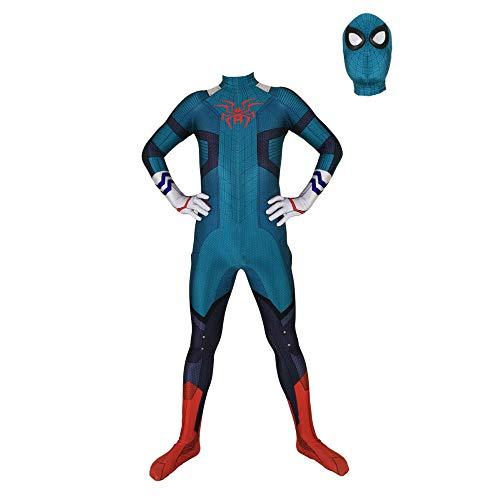 YIWANGO Erwachsener Kind Spiderman Kostüm Karneval Party Cosplay Kostüm Iron Spider 3D Digitaldruck (Spider Tanz Kostüm)
