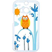 Generic Printing Owl Clear Abs For One M8 Htc Case Women