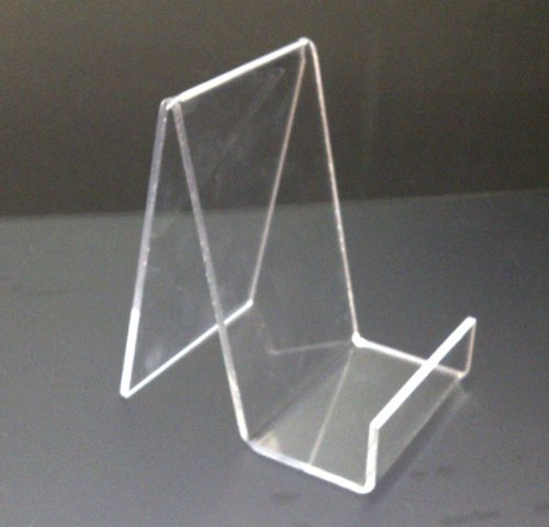 EPOSGEAR Medium Clear Perspex Acrylic Plastic Book Retail Display Stand Holder - Perfect for books, plates, mobile phones, tablets etc in shops or at home! by EPOSGEAR