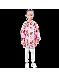 Vêtements de protection pour enfants Vêtements de peinture imperméables Vêtements de mode Vêtements pour enfants Vêtements de sable Vêtements pour enfants pour garçons et filles (Bleu / Rose / Jaune)