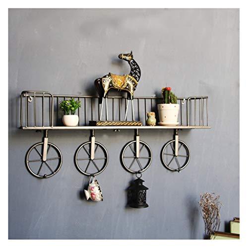 Estante combinado de madera de hierro estadounidense, estante de decoración de pared...