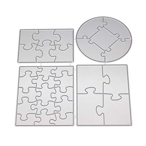 Hothap Puzzle Metall Stanzformen Schablone Für DIY Scrapbooking Papier Karte Präge Handwerk Dekor