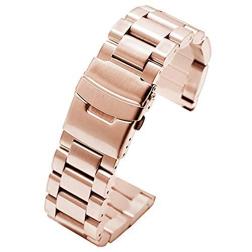 Rose Gold uhrenarmband 18mm für männer Frauen Edelstahl uhrenarmbänder metalluhr Armband Armband für Uhren - Watches Invicta Replica