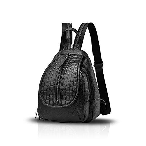 Sunas Lo zaino di corsa di tendenza dello zaino di Bessie del sacchetto di spalla dello zaino di Bessie del nuovo sacchetto di spalla delle signore di modo nero