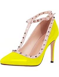 Calaier Mujer Caof Tacón De Aguja 8.5CM Sintético Ponerse Zapatos de tacón