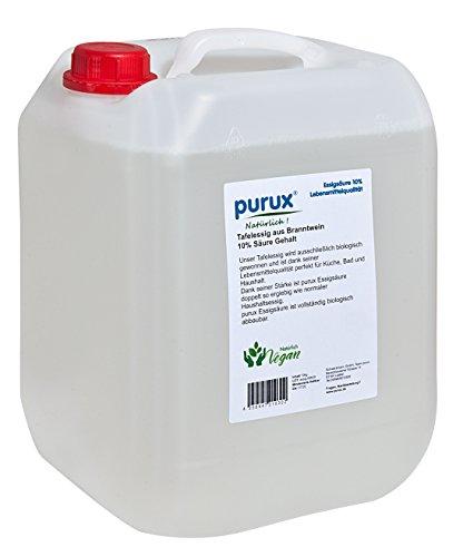 Essigsäure purux 10 Liter Essig Speiseessig Essigessenz Lebensmittel