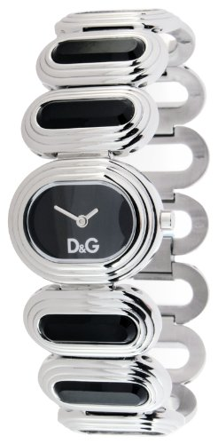 D&G Cortina Ladies Quartz Watch DW0620 with Brown Analogue Dial, Stainless Steel Case And Bracelet With Glass Inserts
