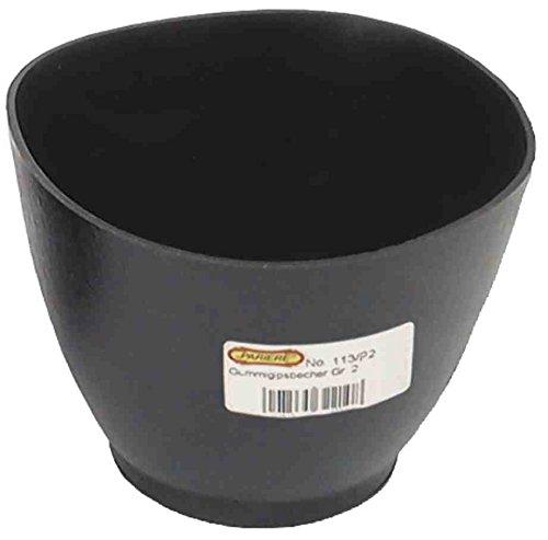 Pariere 113/A2 Gipsbecher Größe 2 in schwarz (Große Gummi-spachtel)