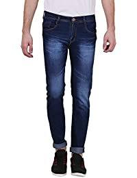 X-CROSS Denim Jeans For Men - Durable Comfortable Casual Dark Blue Men Jeans For Everyday Use - Stylish Fashionable...