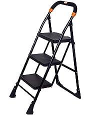 Magna Homewares Pollux 3 Step Folding Ladder (Black, Medium)