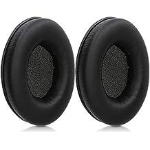 kwmobile 2X Almohadillas para Auriculares Razer Kraken/Kraken Pro - Almohadillas de Recambio de Cuero